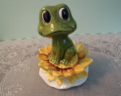 Vintage Salt and Pepper Shakers : Sears & Roebuck Neil The Frog and Water Lily Shaker Set