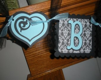 Bride To Be Wedding Banner You Choose Your Colors Banner Matching Pom Poms Available