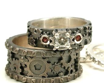 popular items for gear ring wedding on etsy