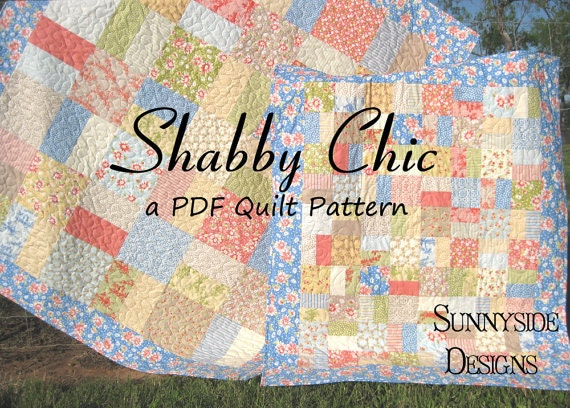 Layer Cake Quilt Pattern Shabby Chic Charm Pack Moda Fabric