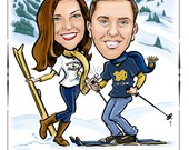 Custom Caricature Save the Date - Cards, Magnets, and Invitations