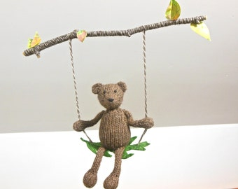 Baby Mobile, Bear Mobile, Woodland Animal Mobile, Bear Swing, Brown Bear Branch Mobile, Girl Mobile, Boy Mobile, Gender Neutral Baby mobile