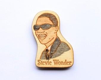 Stevie Wonder Wooden Motown Magnet