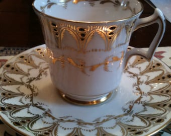 Royal Chelsea Gothic Bone China Cup & Saucer