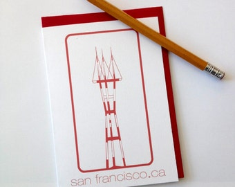 Sutro Tower note card