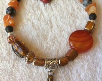 Orange bracelet with carnelian beads
