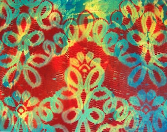 """Spray Paint Art Original Abstract Lace Poster 14"""" x 11"""""""