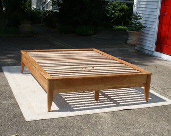 Platform Beds Without Headboards Custom Handcrafted Furnituresolidcherryheirlooms On Etsy