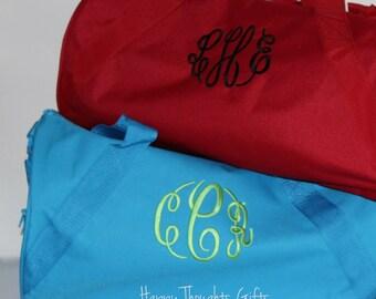 Monogram Duffle Bag - Cheer Bag - Weekend Bag - Duffel Bag - Kid Duffle Bag - Duffel Bag -  Personalized Duffle Bag - Kid Overnight Bag
