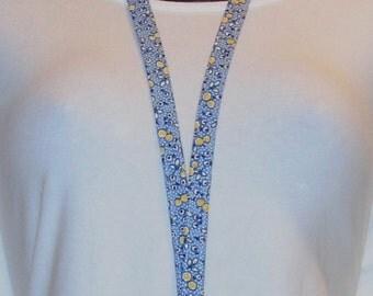 Lanyard - Teacher Lanyard - Half Inch Wide Fabric Lanyard - Key Lanyard - Id Badge Lanyard -Id Badge Holder Lanyard - Blue