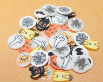 Polymer clay canes Halloween slices for miniature foods decoden and nail art supplies