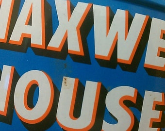 1960s Vintage Maxwell House Coffee Tin - Good to the Last Drop