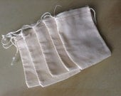 SALE** 25 Muslin Bags Double Drawstring 2 3-4 x 4 inches