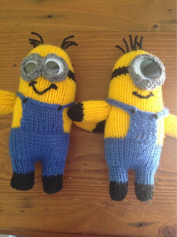 Knitting Patterns Minions : Items similar to Knitted Minion on Etsy