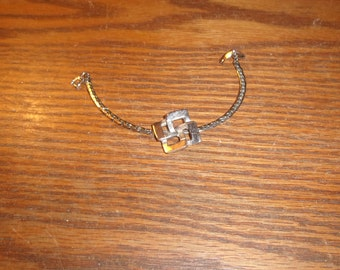 vintage bracelet silvertone