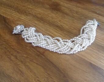 vintge bracelet braided beads