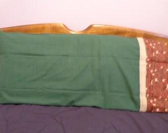 Green Flannel - King Flannel Pillowcase Single