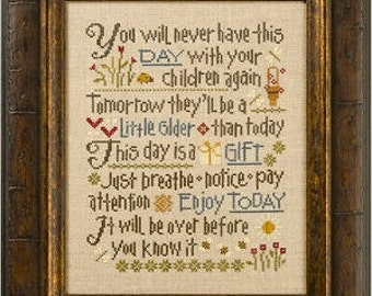 LIZZIE*KATE Let Them Be Small counted cross stitch patterns at thecottageneedle.com new baby nursery graduation