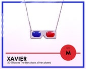 Medium - XAVIER 3D Glasses The Necklace, silver-plated edition