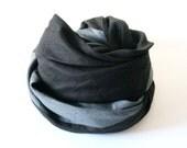 Long linen infinity scarf | Custom color | Lovely Home Idea