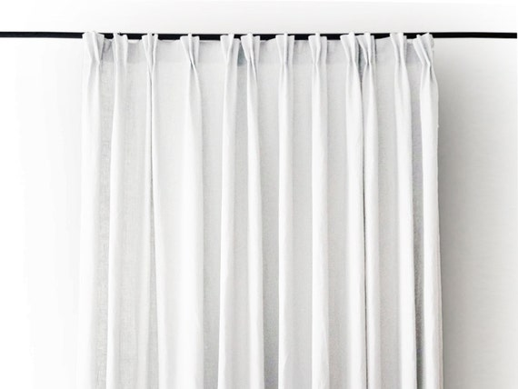 Pinch Pleat Drapes: Pinch Pleat Curtains Linen Drapes Blackout Lined By