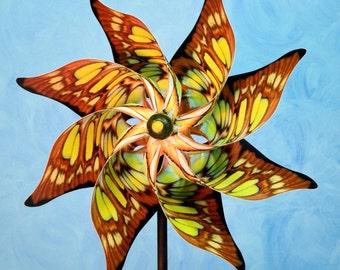 Malachite Butterfly Pinwheel Spinner Whirligig Windmill