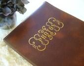 Burgundy Faux Leather Photo Album
