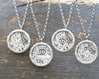 Personalized Bridesmaid Gift Rustic Wedding Necklaces Bride Keepsake Customized Handmade