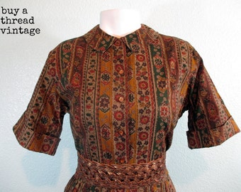 Vintage 50s Shirtwaist Dress by Countrywise Macshores Classics