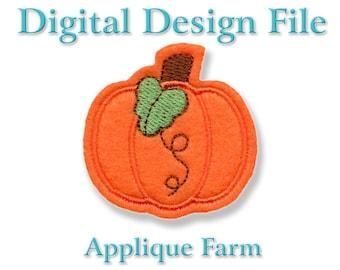 Feltie Embroidery File - Pretty Pumpkin - In the Hoop - Instant Digital Download C230