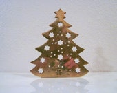 Vintage Brass Candlestick Holder - Holiday Decor - Christmas Tree