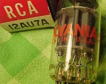 12AU7A  Sylvania Audio Tube Nos vintage 60s nib hi test