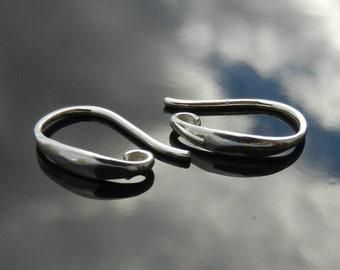 Sterling Silver Hook Earring Findings Nickel Free 1 PAIR