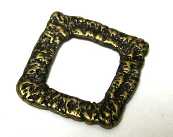 Antique Bronze Link Rustic Square 16mm Nickel Free 10 Pieces