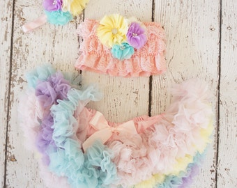 Girls birthday outfit- Birthday outfit - Girls Tutu birthday -Tutu birthday outfit- Girls first birthday outfit- Pettiskirt - Smash the cake