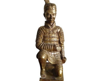 Vintage Chinese Xian Warrior Figurine