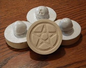 Bright White - Stoneware Cookie Stampers - Pentacle