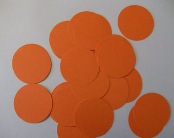 25 Orange Die Cut Circles 2 inches