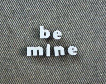 BE MINE - Vintage Ceramic Push Pins