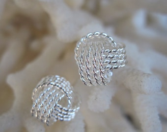 Dainty Sterling Silver Love Knot Earrings