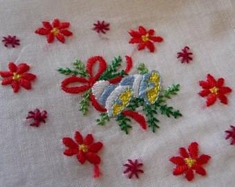 Lovely  embroidery hankie hanky