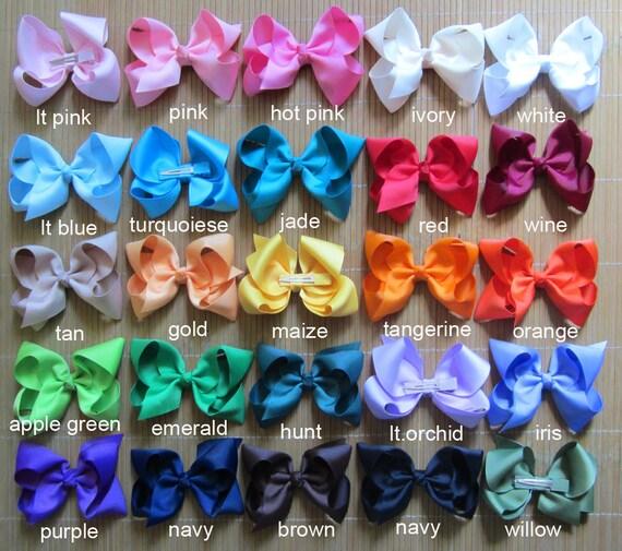 Set Of 15 Pcs 4 Inch Boutique Bows Hair Bow Boutique Hair