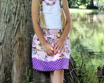 Princess at Play  Skirt    (18 mos, 2T, 3T, 4T, 5, 6, 7) last one