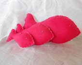 Stuffed Soft Toy Felt Fish ( 3 white and pink)