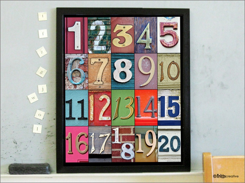 Classroom Decor Canada ~ Classroom decor with number photos to in color