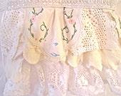 Shabby Ruffles White Toddler Dress
