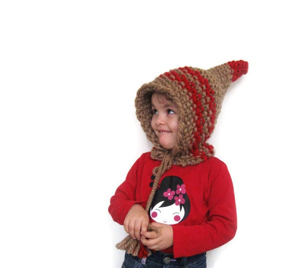 Knitting Pattern For Dwarf Hat : Knitted Children Wool Hat Pointed Dwarf Hat Knit Hat by