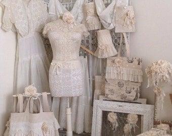Gorgeous White Vintage & Antique Lace Dress Form