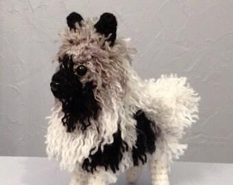 Keeshond Amigurumi -  Made to Order - Hand Crocheted - custom crochet dog