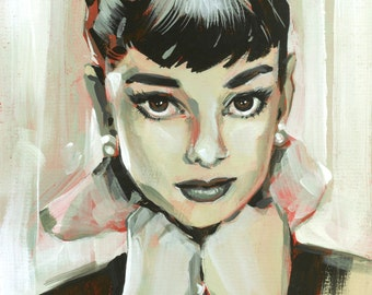 Audrey Hepburn painting print by Shaunna Peterson
